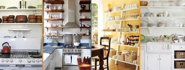 open shelves condo space saver