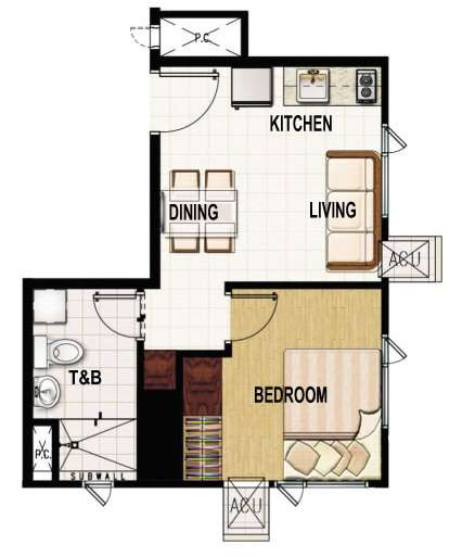 princeton residences 1 bedroom suite unit 30sqm