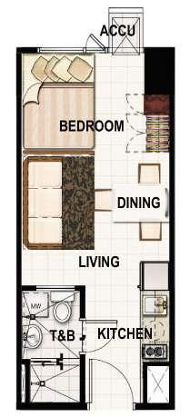 princeton residences studio-luxe unit 23sqm