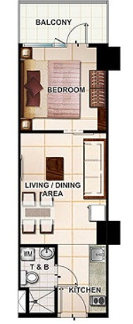 SMDC Wind Residences Resort Residential Unit2-34.81sqm