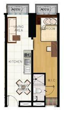 green residences combination unit floor plan B