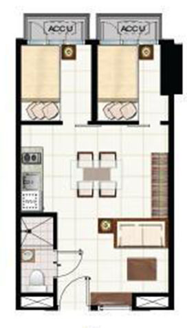 green residences combination unit floor plan C