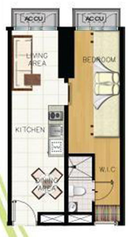 green residences combination unit floor plan