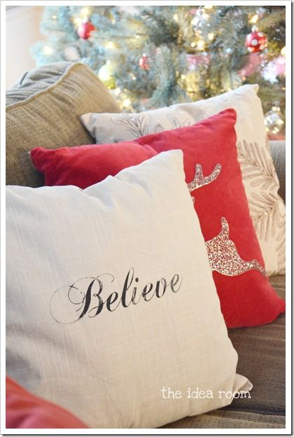 Diy Decorative Christmas Pillows : Condo Living: 3 Sneaky Decorating Ideas for a Magical Merry Christmas (Plus, photo inspirations ...