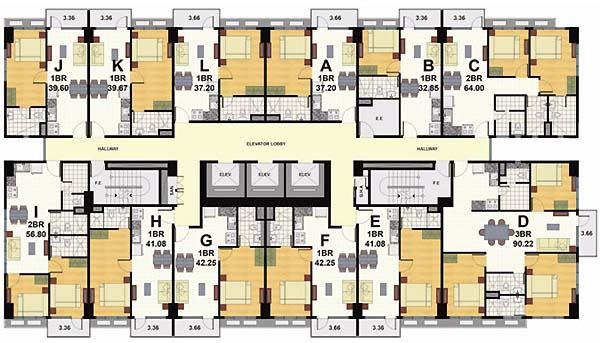 Signa Designer Residences - Floorplan 1