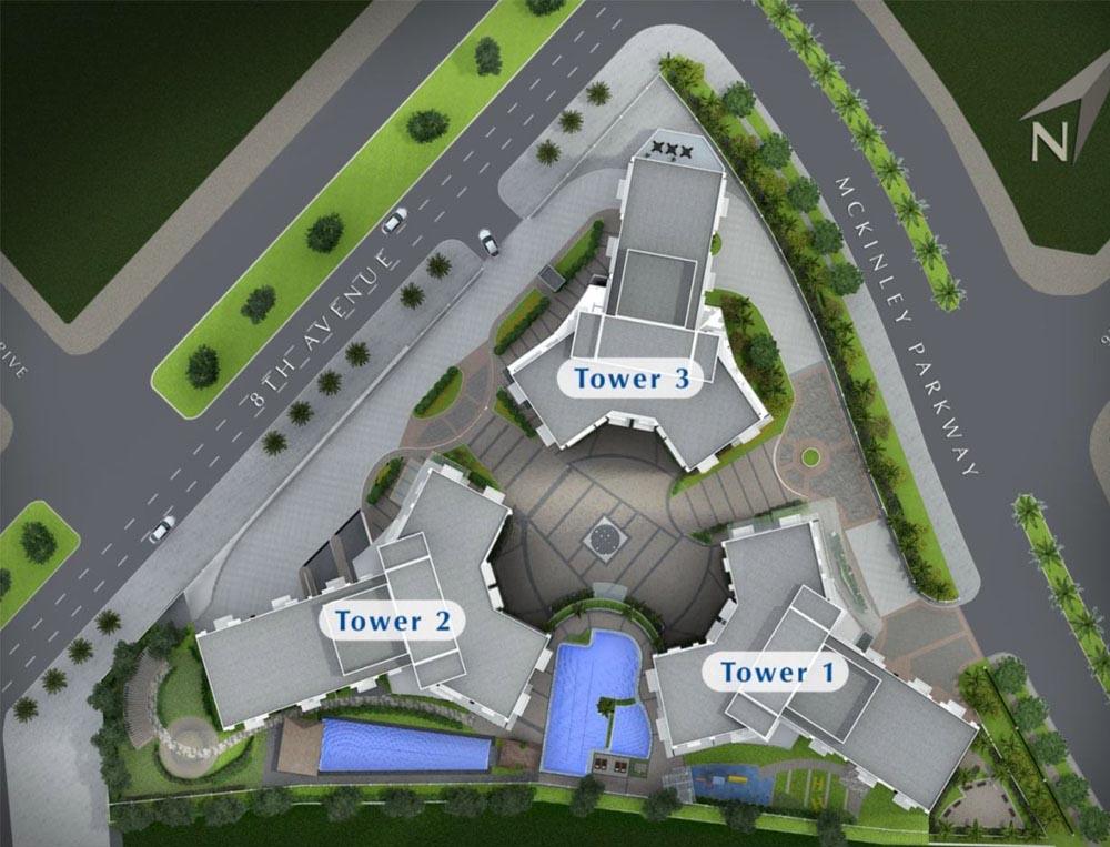 the trion towers condominium BGC - Development Plan