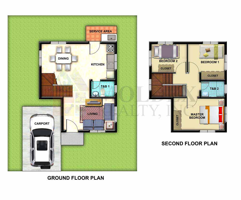 Metrogate meycauayan ii house and lot in bulacan by for Model house design with floor plan