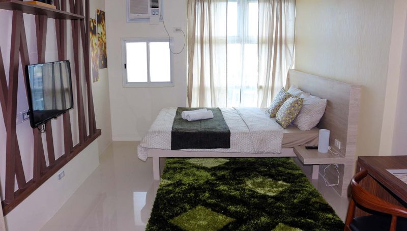 Fully Runished Studio Condo for Rent in Quezon City, near ABS CB