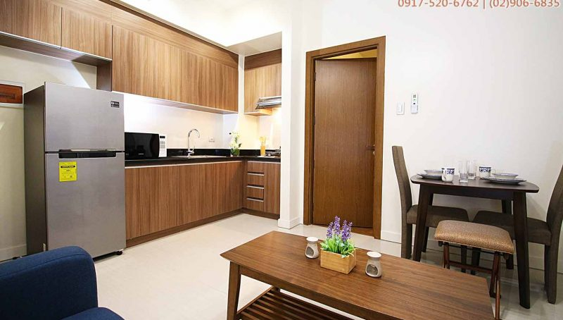 Rent 1 bedroom with parking in Sapphire Bloc condominium in Ortigas, Mandaluyong